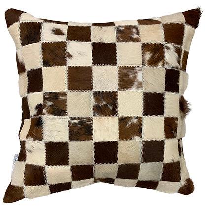 Cowhide Cushion | Beige and Brindle | 45cm x 45cm