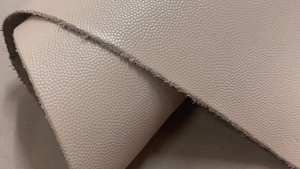 Caviar Grain Leather | Light Pink | By the Sqft