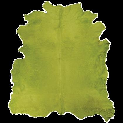 Italian Dyed Cowhide Rug | Light Green