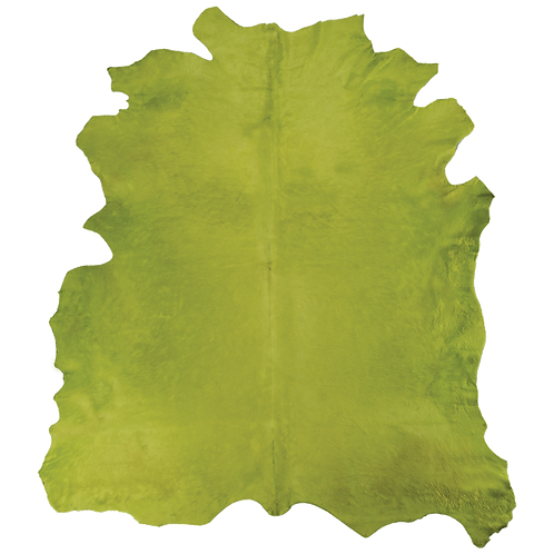 Italian Dyed Cowhide Rug | Light Green