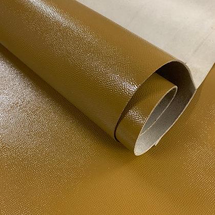 High Gloss Epsom Leather | Green Ochre