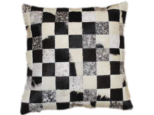 Cowhide Pillow | Natural Black & White Cowhide 45cm x 45cm
