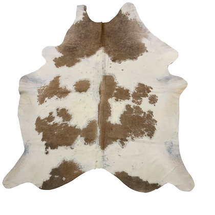 Cowhide Rug | Beige and White | L | 10062