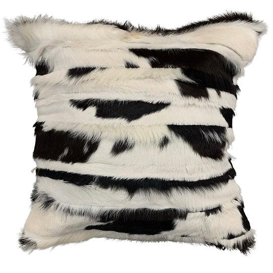 Calfhide Cushion | Stripes | Black and White