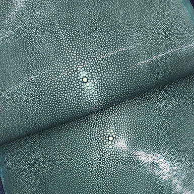 Stingray Leather | Emerald Green | Polished