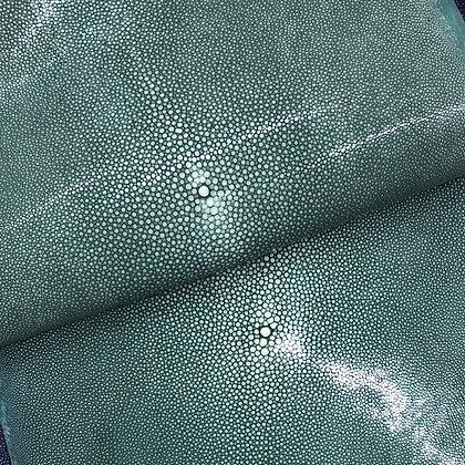 Stingray Leather | Emerald Green | Polished