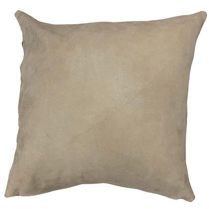 Leather Throw Pillow | Beige | 45cm x 45cm