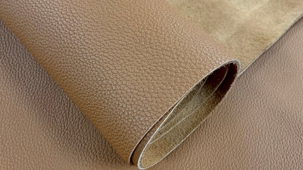 Togo Shrunken Calf Leather | Gold | By the Sqft