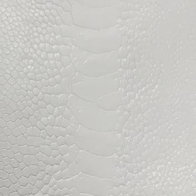 Ostrich Leg Leather | White | Glazed Finish