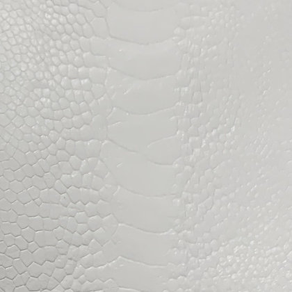 Ostrich Leg Leather | White | Glazed Finish