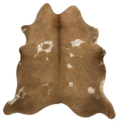 Cowhide Rug | Brown and White | L | 10205