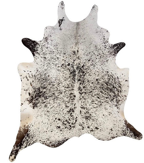 Cowhide Rug Black and White Speckle