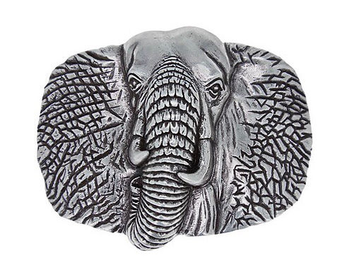 3D Belt Buckle | Elephant Head Design