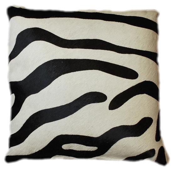 Cowhide Cushion | Zebra Print | 45cm x 45cm