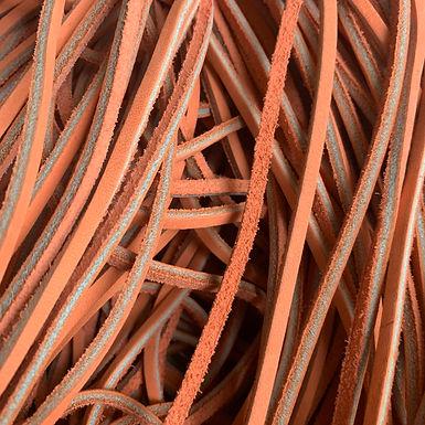 Leather Lace   Orange Peel   Chrome Tanned