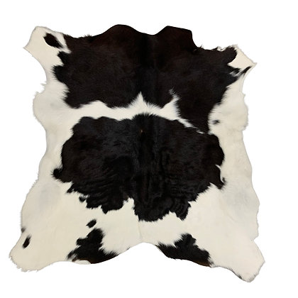 Calf Hide Rugs | Black and White | XS cowhides | 10327