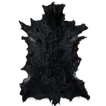 Goat Hide Rugs | Natural Black |10293