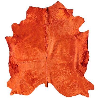 Italian Dyed Cowhide Rug   Mandarin