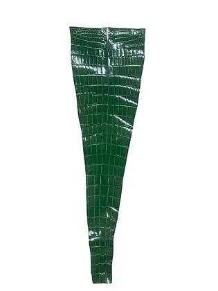 Glazed Porosus Tail | Grass Green