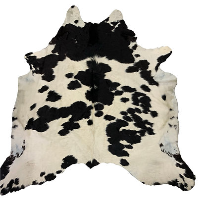 Cowhide Rug   Black and White   L   10121