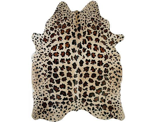 Jaguar Printed Cowhide   On Beige