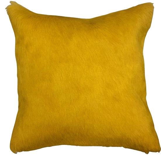 Cowhide Cushion   Soho   Canary