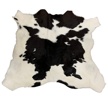 Calf Hide Rugs   Black and White   XS cowhides   10328