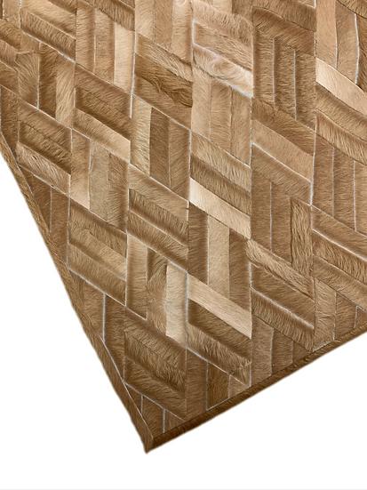 Cowhide Design Rug | Bamboo