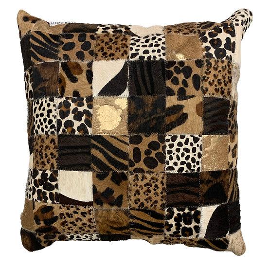 Cowhide Cushion | 40cm x 40cm | Safari