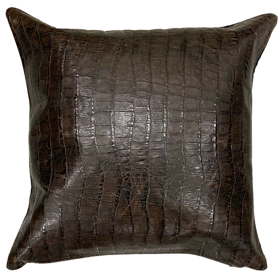 Leather Throw Pillow | Glazed Croc Emboss