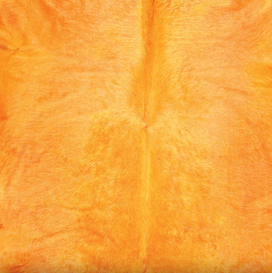 Italian Dyed Cowhide Rug | Contrast | Orange / Melon