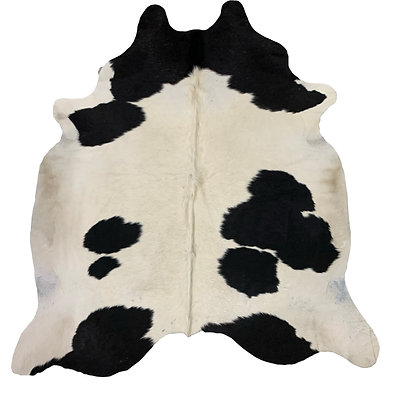 Cowhide Rug   Black and White   L   10114