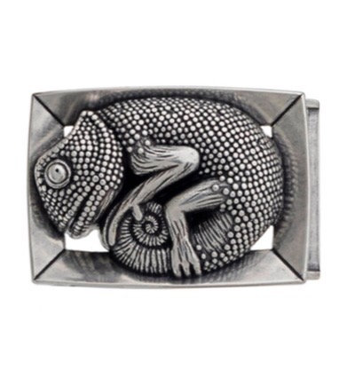 3D Belt Buckle | Chameleon Design