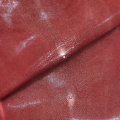 Stingray Leather   Ruby Red   Polished