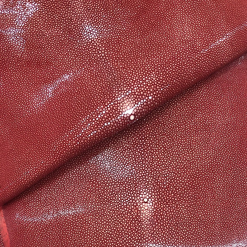 Stingray Leather | Ruby Red | Polished