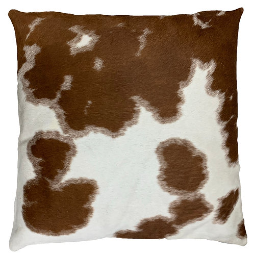 Cowhide Pillow | Brown & White | 60cm x 60cm
