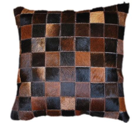 Cowhide Cushion | Natural Dark Brown 45cm x 45cm