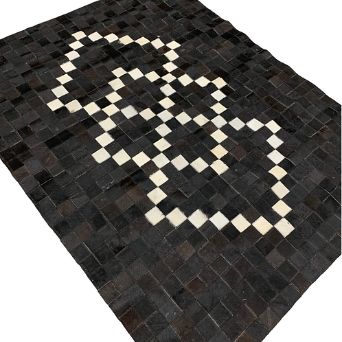 Patchwork Cowhide Rug | Black and White 120 x 180cm