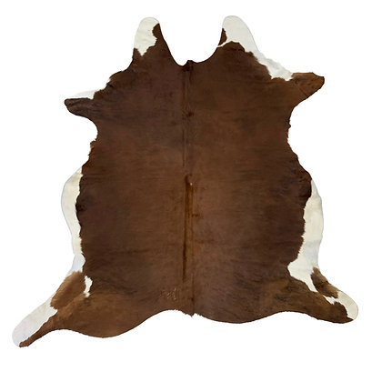 Cowhide Rug   Brown and White   L   10169