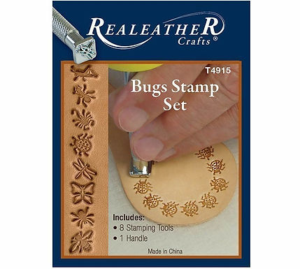 Bugs Stamp Set | Real Leather