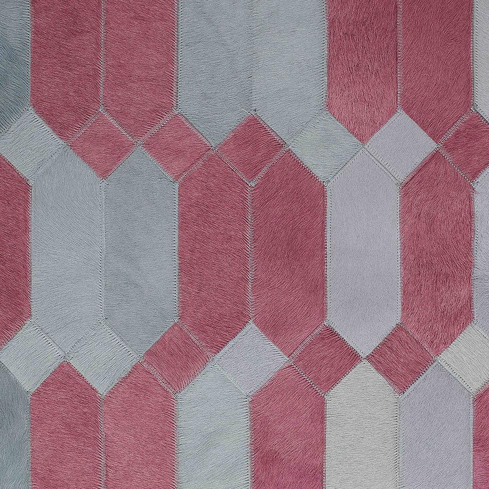 Gioia cowhide design rug grey and mauve