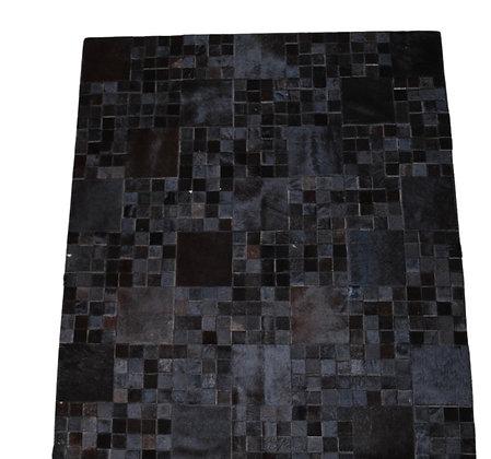 Patchwork Cowhide Rug | Natural Black 140 x 160cm