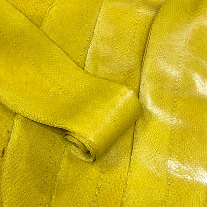 Salmon  Leather Smooth Finish | Yellow