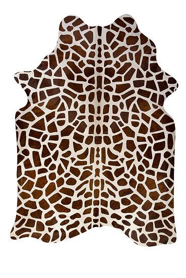 Giraffe Printed Cowhide Rug