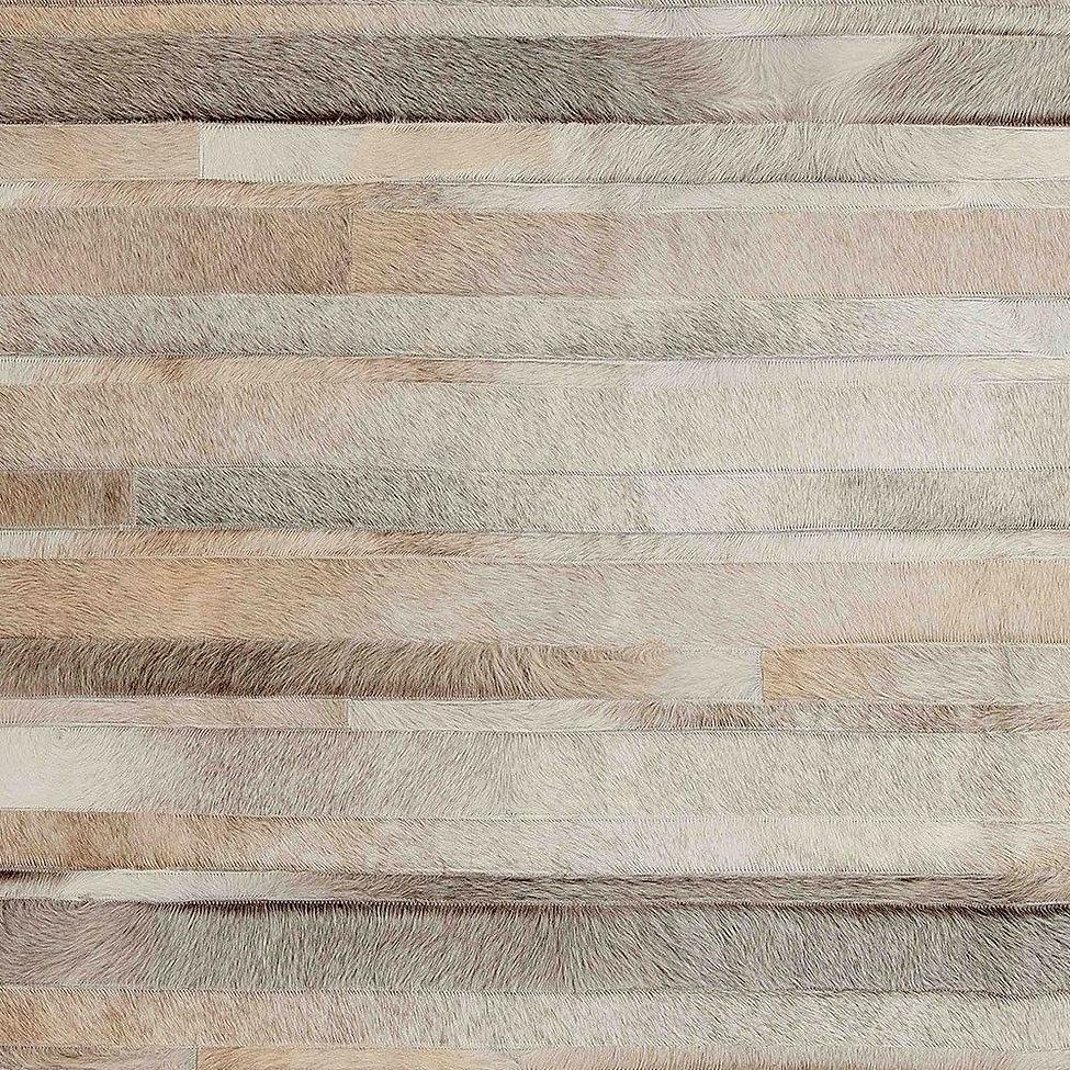 cowhide patchwork rug stripes scirocco natural grey
