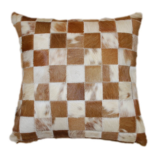 Cowhide Cushion | Natural Beige 45cm x 45cm