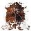 Thumbnail: Italian Cowhide Rug   Tricolour   XXL
