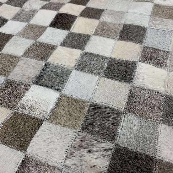Patchwork Cowhide Rug | Natural Grey | Various Sizes