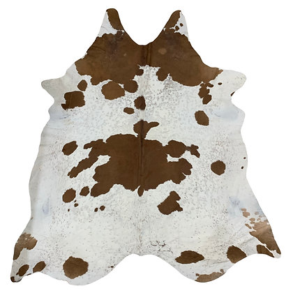 Cowhide Rug   Brown and White   XL   10214