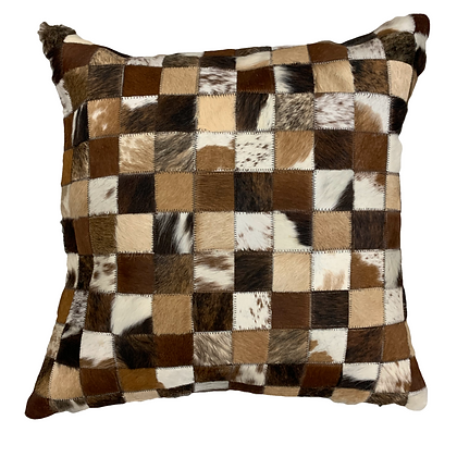 Cowhide Cushion | Mixed Browns | 60cm x 60cm